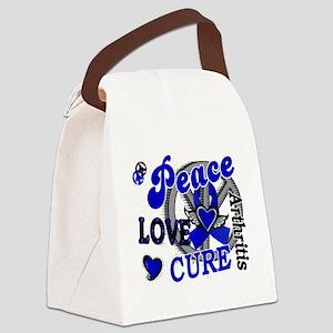 D Arthritis Peace Love Cure 2 Canvas Lunch Bag