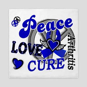D Arthritis Peace Love Cure 2 Queen Duvet