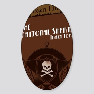 clean national Sticker (Oval)