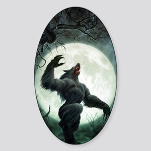 Howl-LargePoster Sticker (Oval)