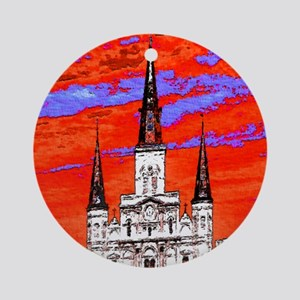 CathedralFauve1ab Round Ornament