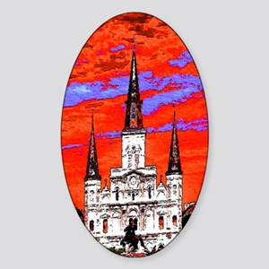 CathedralFauve1ab Sticker (Oval)