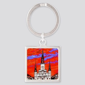 CathedralFauve1ab Square Keychain