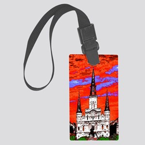 CathedralFauve1ab Large Luggage Tag