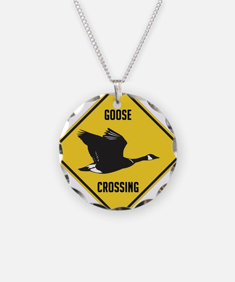 crossing-sign-canada-goose-s Necklace