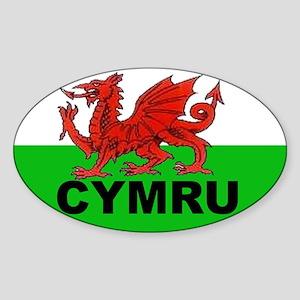 CYMRU - WALES Oval Sticker