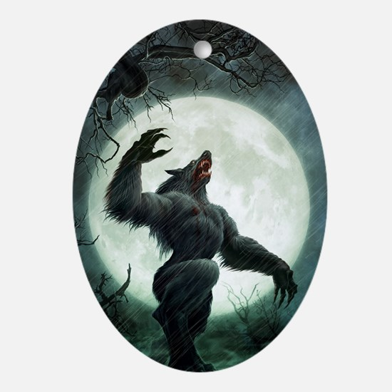 Howl-FramedPrint Oval Ornament