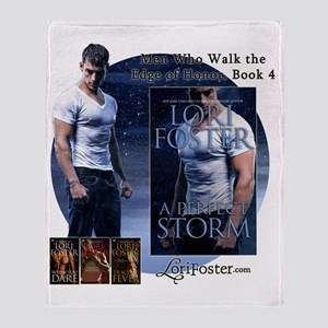 A Perfect Storm cut out with text 2  Throw Blanket