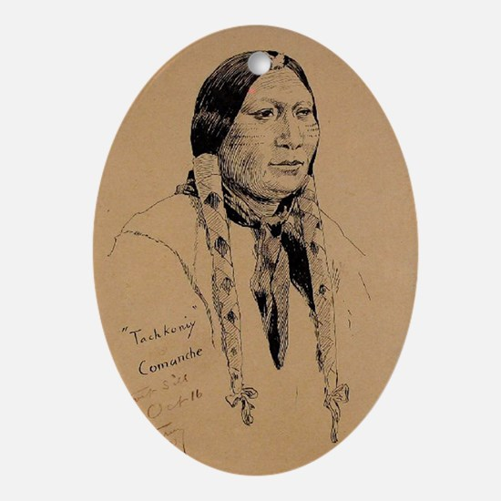 Tachkoniy, Comanche, Fort Sill, no d Oval Ornament