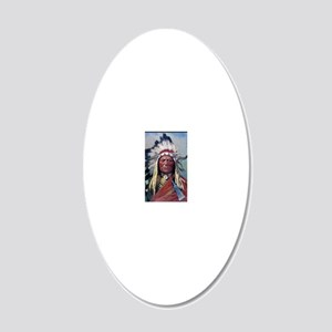 Sitting Bull, 1899, oil on c 20x12 Oval Wall Decal
