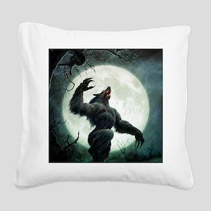 Howl-Tshirt Square Canvas Pillow