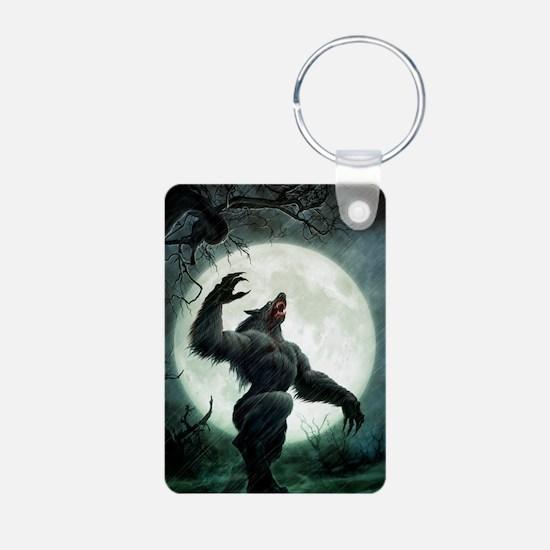 Howl-Tshirt Aluminum Photo Keychain
