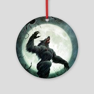 Howl-Tshirt Round Ornament