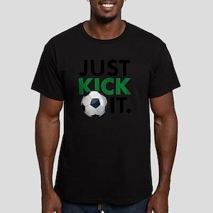 KickIt1C Men's Fitted T-Shirt (dark)