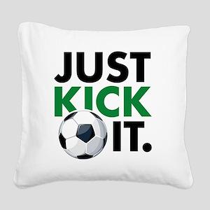 KickIt1C Square Canvas Pillow