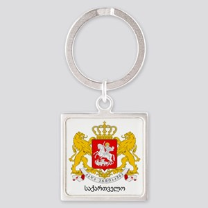 Georgia Greater Coat of Arms Square Keychain