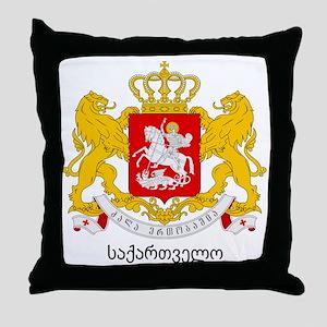 Georgia Greater Coat of Arms Throw Pillow