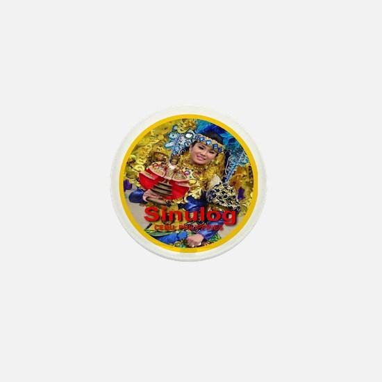 Sinulog_golden_circle_transparent Mini Button
