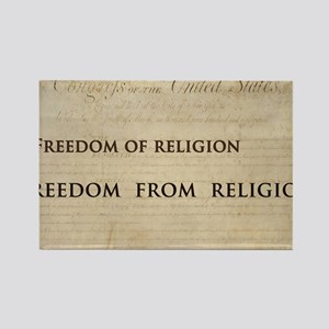 12x20_car magnet - Freedom of rel Rectangle Magnet