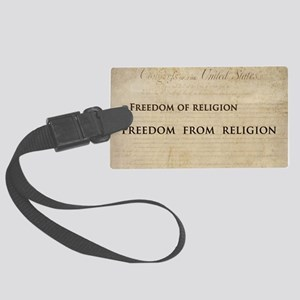 12x20_car magnet - Freedom of re Large Luggage Tag
