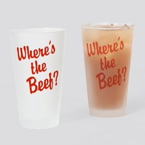 Where's The Beef? Drinking Glass