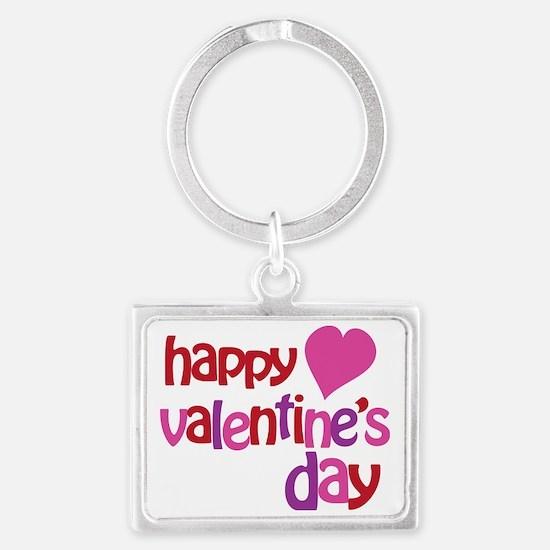Happy Valentines Day Landscape Keychain