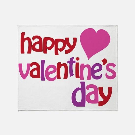 Happy Valentines Day Throw Blanket
