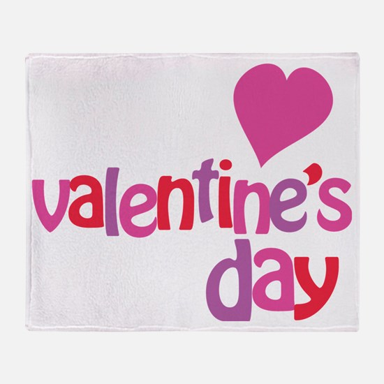 My 1st Valentines Day Throw Blanket
