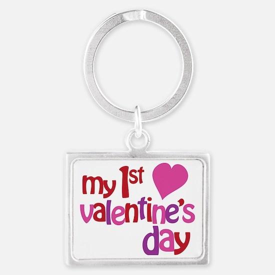 My 1st Valentines Day Landscape Keychain