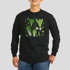 gogreenpattern2 Long Sleeve Dark T-Shirt