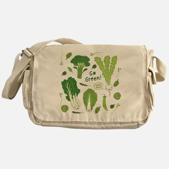 gogreenpattern2 Messenger Bag