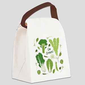 gogreenpattern2 Canvas Lunch Bag