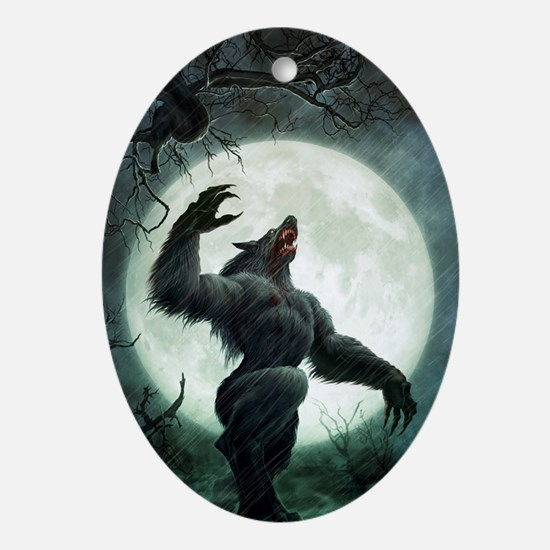 Howl-Postcard Oval Ornament