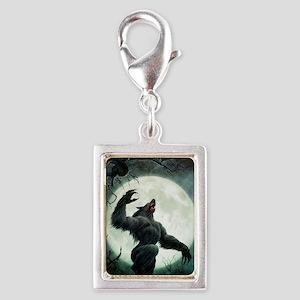 Howl-Postcard Silver Portrait Charm