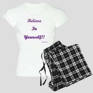 6x6believeinyourselftranspa Women's Light Pajamas