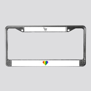Gay Pride Rainbow Love License Plate Frame