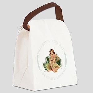 Frankies Tikki 4 blk Canvas Lunch Bag