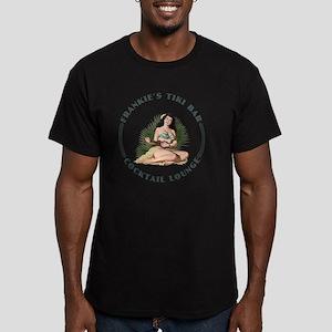 Frankies Tikki 2 wht Men's Fitted T-Shirt (dark)