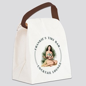 Frankies Tikki 2 wht Canvas Lunch Bag