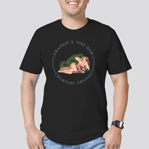 Frankies Tikki 3 wht Men's Fitted T-Shirt (dark)