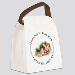 Frankies Tikki 3 wht Canvas Lunch Bag