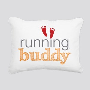 running buddy babyR Rectangular Canvas Pillow