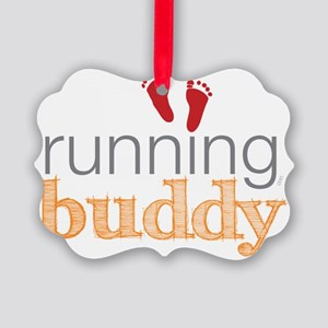 running buddy babyR Picture Ornament