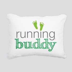 running buddy babyG Rectangular Canvas Pillow