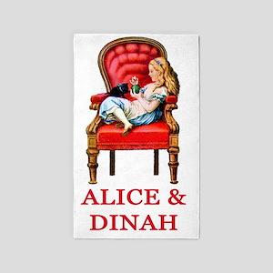 ALICE  DINAH Clear copy 3'x5' Area Rug