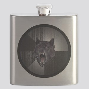 Insanity Wolf Circle Flask