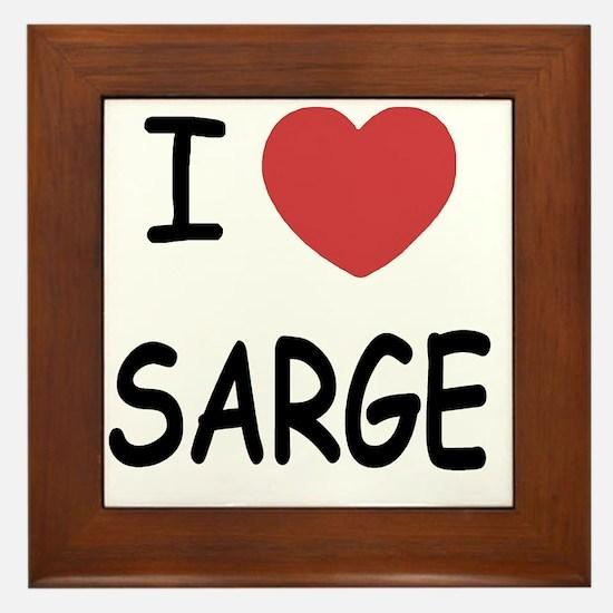 SARGE Framed Tile