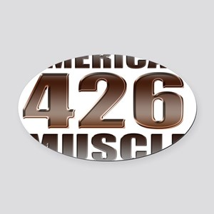 american muscle 426 Oval Car Magnet