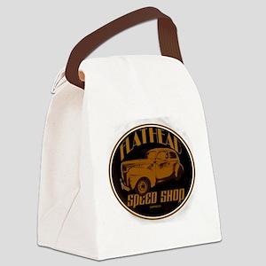 flathead speed shop Canvas Lunch Bag