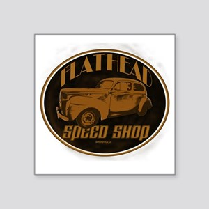 "flathead speed shop Square Sticker 3"" x 3"""